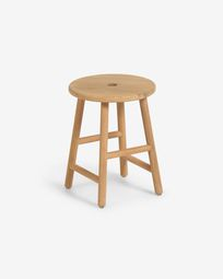 Huara side table made from solid eucalyptus wood Ø 35 cm FSC 100%