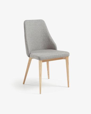 Rosie stoel licht grijs natuurlijke afwerking