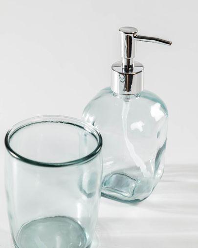 Dispenser Trella per sapone trasparente in vetro 100% riciclato