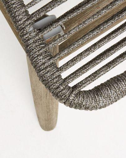 Silla Zabel cuerda gris y madera maciza de eucalipto