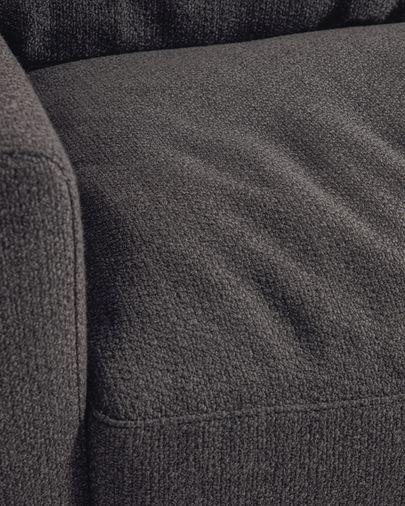 Sofà Noa 3 places gris amb potes acabat fosc 230 cm