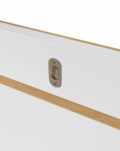 Abilen oak veneer and white lacquer shelves 120 x 9 cm