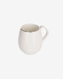 Chávena Taisia de porcelana branco