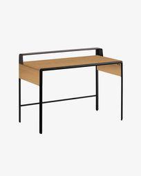Nadyria Schreibtisch Eichen Holz 120 x 55 cm