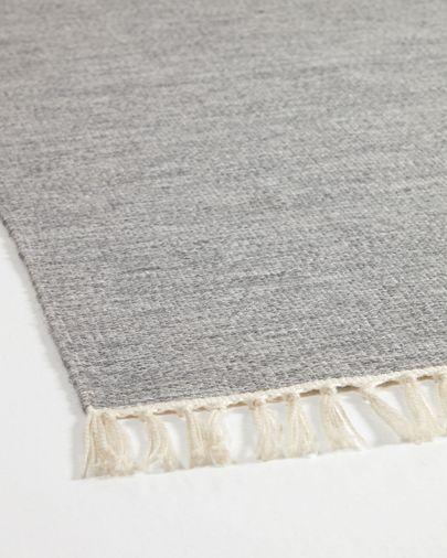 Tapis Elbia en PET gris de 160 x 230 cm