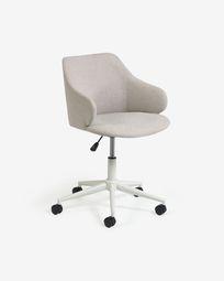 Einara light grey office chair