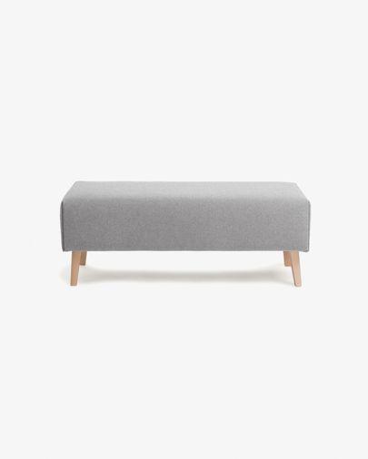 Banqueta Dyla gris de madera maciza de haya 111 cm