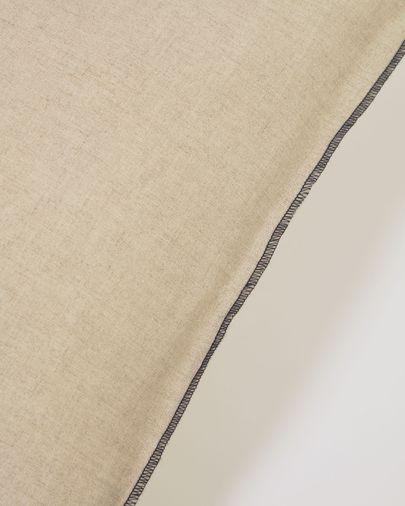 Funda cojín Elea 100% lino natural 45 x 45 cm