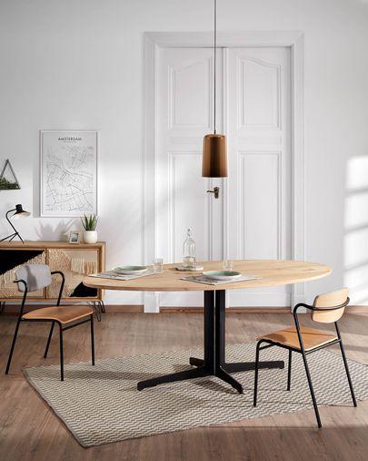Zaha oak wood chair