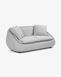 Light grey 3-seater Safira sofa 180 cm