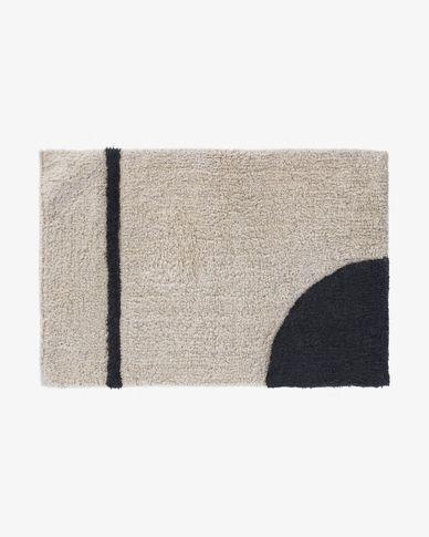 Maica semi-circular bath mat 40 x 60 cm