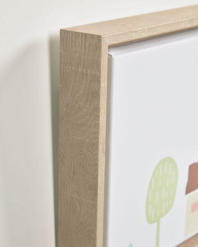Cuadro Leshy multicolor 110 x 25 cm