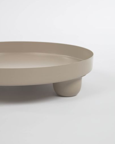 Charisse grey metal table centrepiece