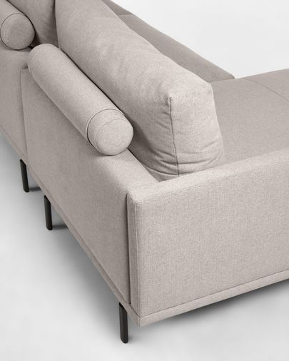 Galene 3-seater sofa with left-hand chase longue in beige, 194 cm