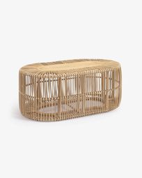 Lael coffee table in rattan with natural finish Ø 110 x 60 cm