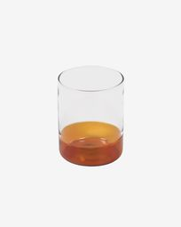 Verre Dorana en verre transparent et orange