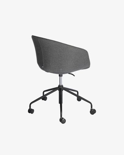 Cadira d'escriptori Yvette gris fosc