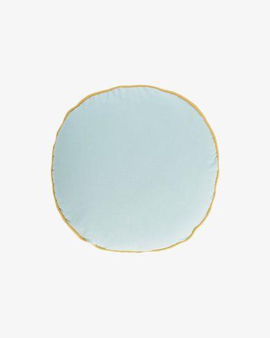 Fresia blauwe kussenhoes Ø 45 cm