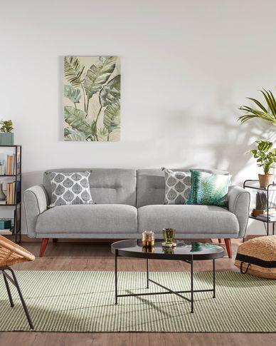 Sofa 3-osobowa Oksana jasnoszara 215 cm