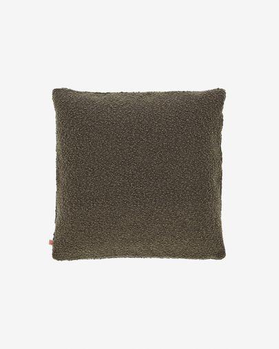 Funda coixí Vicki pell de borrec verd 45 x 45 cm