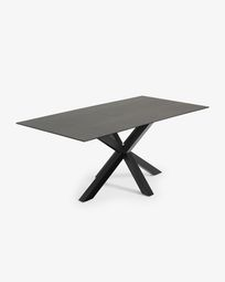 Argo tafel 200 cm porselein afwerking Iron Moss zwarte benen