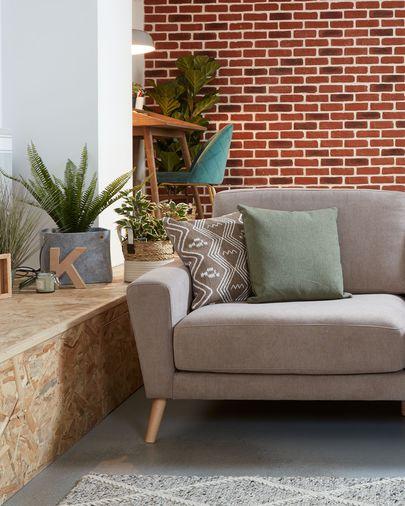 Narnia braunes 3-sitzer Sofa
