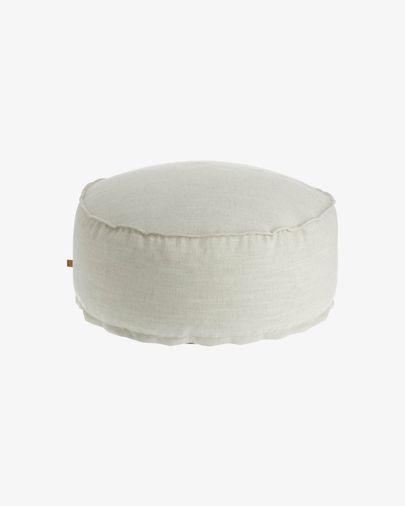 White Maelina Pouf Ø 70 cm