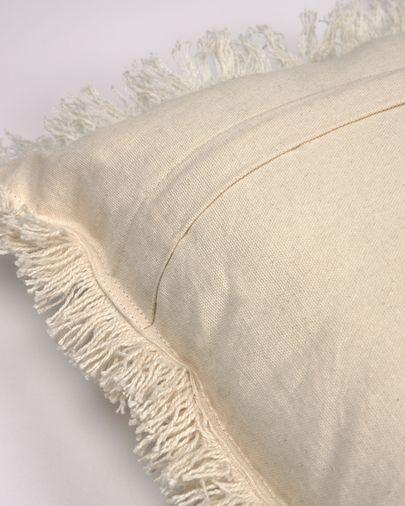 Witte kussenhoes Shallowin van 100% katoen 30 x 50 cm
