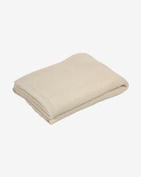 Manta Saian lisa 100% algodón beige 130 x 170 cm