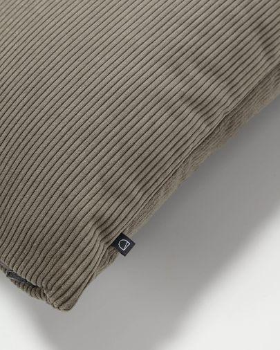 Funda coixí Namie 60 x 60 cm pana gris fosc