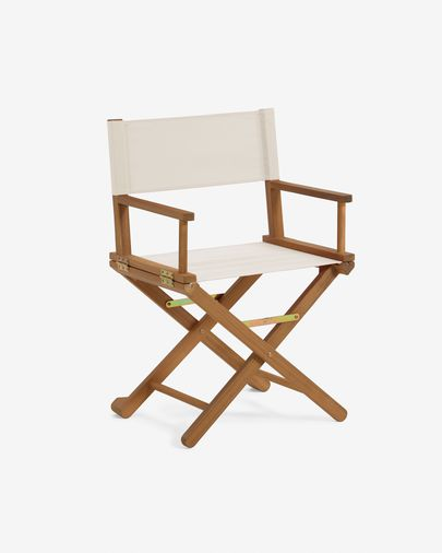 Dalisa solid acacia outdoor folding chair in beige FSC 100%