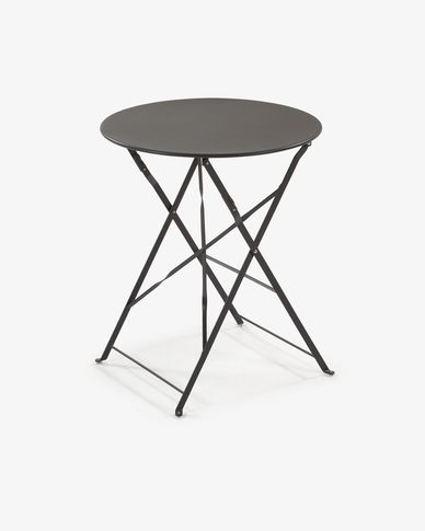 Round matte graphite Alrick table Ø 60 cm