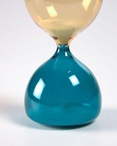 Sablier Brandina en verre jaune et bleu 15 cm