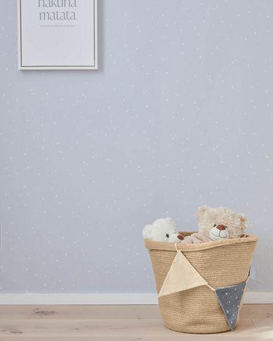 Ludmila wallpaper with white stars print 10 x 0,53 m FSC MIX Credit