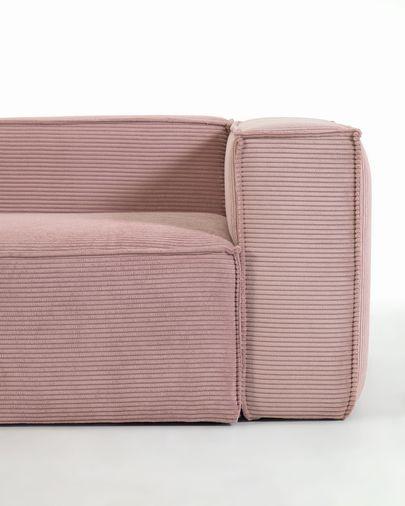 Blok 4-seater corner sofa in pink corduroy 320 x 230 cm