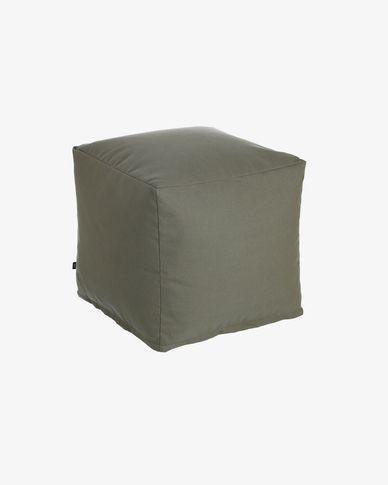Pouf carré Nedra 50 x 50 cm gris