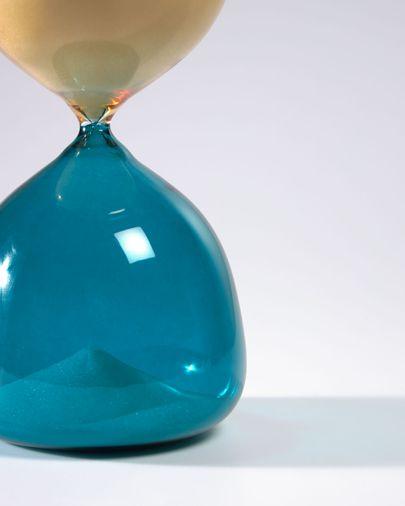 Reloj de arena Brandina cristal amarillo y azul 23 cm