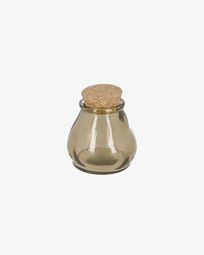 Rohan small brown glass jar