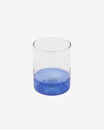 Verre Dorana en verre transparent et bleu