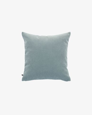 Turquoise corduroy Namie cushion cover 45 x 45 cm