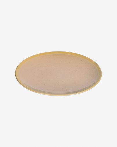 Plato plano Tilia cerámica color beige