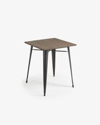 Anthracite Malira table 80 x 80 cm
