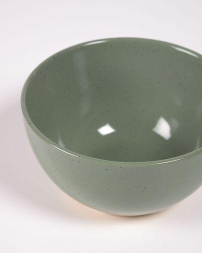 Tilla ceramic bowl in dark green