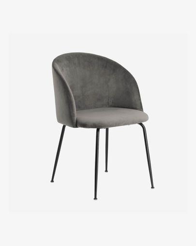 Cadira Laudelina vellut gris