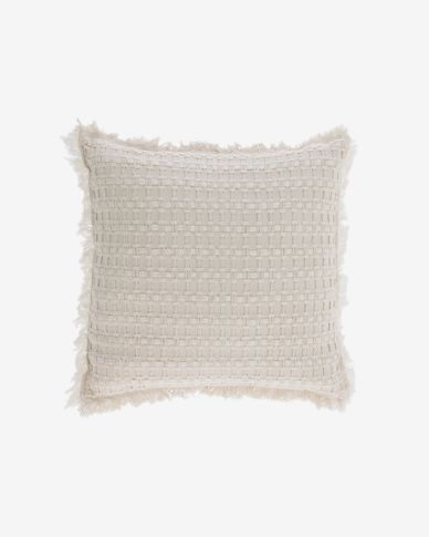 Funda de coixí Shallowin 100% cotó blanc de 45 x 45 cm