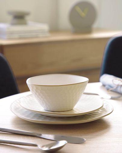 Small Manami ceramic bowl in white