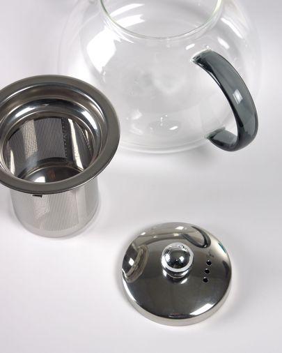 Théière Dolis en verre transparent et gris