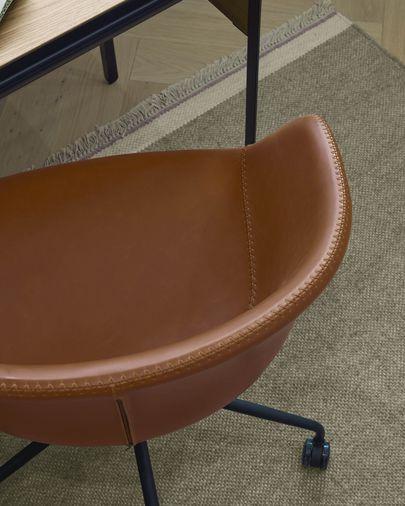Silla de escritorio Yvette piel marrón