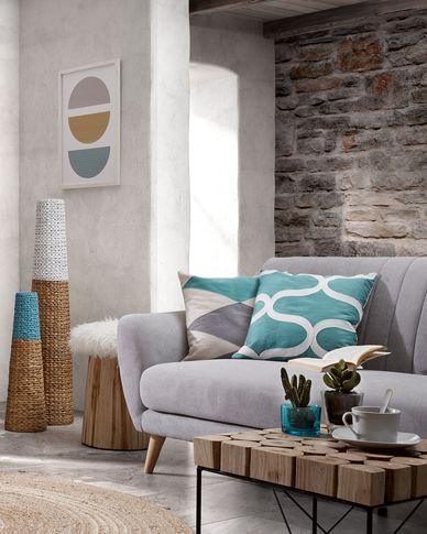 Sofa 3-osobowa Obo w kolorze jasnoszarym 190 cm
