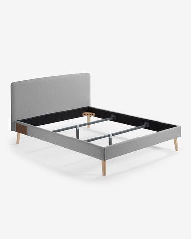 Fodera letto Dyla 150 x 190 cm grigio